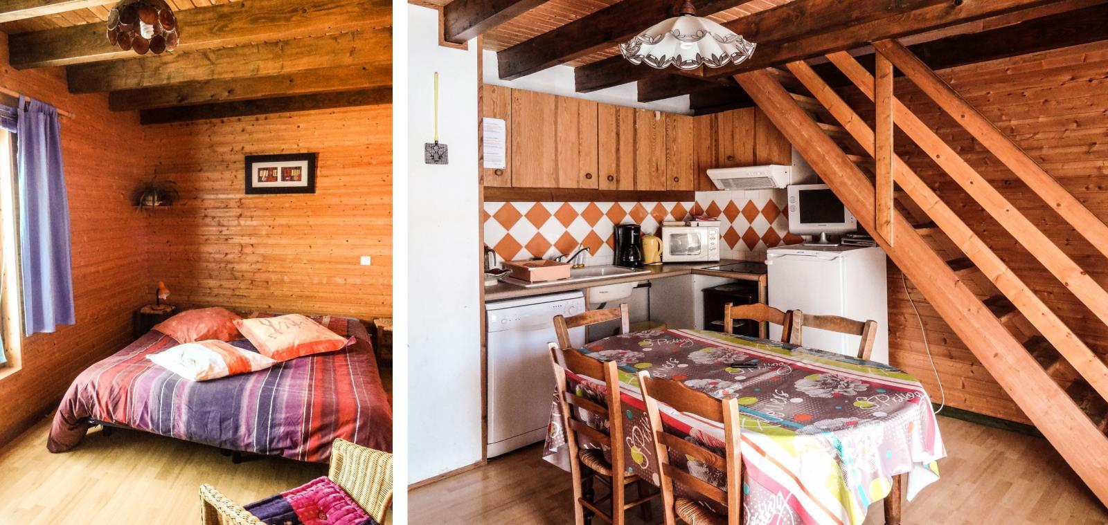 Chambre 2 lits et pièce à vivre